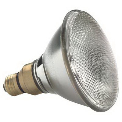 GE Lamps 60PAR/HIR+/FL25-120 HIR™ PLUS PAR38 Halogen Lamp; 60 Watt, 120 Volt, 2800K, Medium Skirt (E26/50x39) Base, 4200 Hour Life