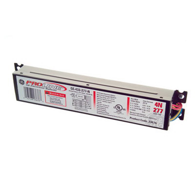 GE Lamps GE432-120-RES ProLine® Electronic Linear Fluorescent Ballast; 120 Volt, 105 Watt, 4-Lamp, Instant Start