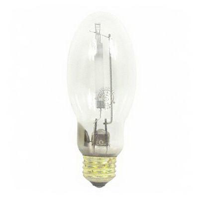 GE Lamps LU100/MED/ECO Lucalox® Elliptical B17 High Pressure Sodium Lamp; 100 Watt, 2000K, 22 CRI, Medium Screw (E26) Base, 24000 Hour Life, Clear
