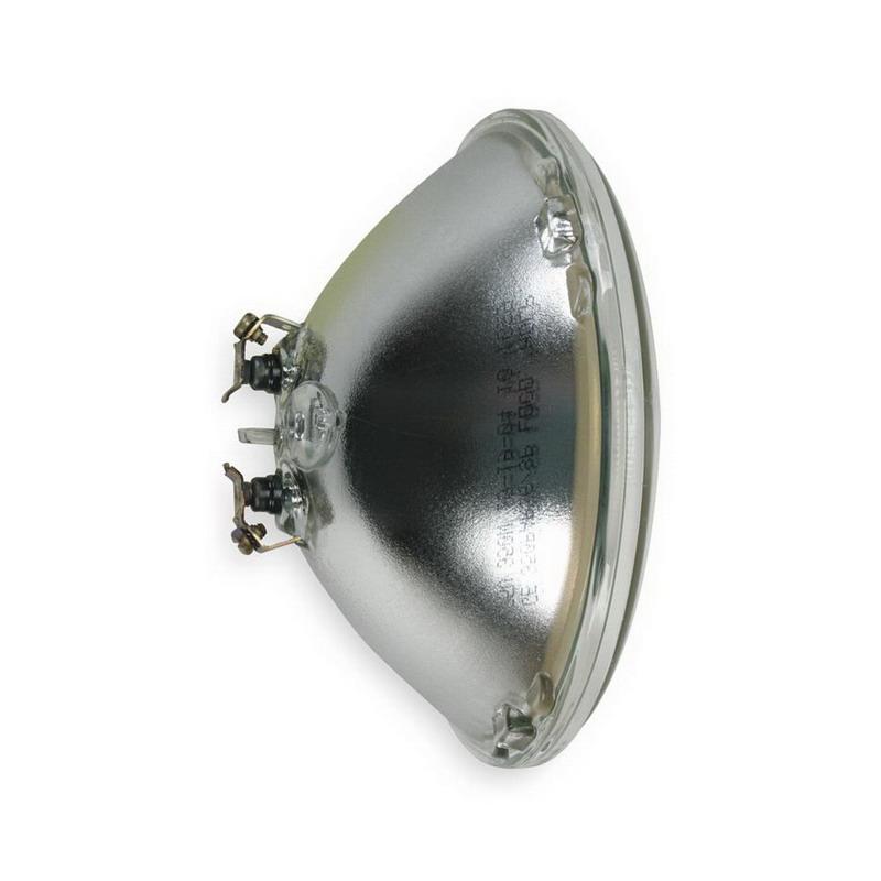GE Lamps 350PAR56/SP-75 Quartzline® Sealed Beam PAR56 Halogen Lamp; 350 Watt, 75 Volt, Screw Terminal (G53) Base, 500 Hour Life, Clear