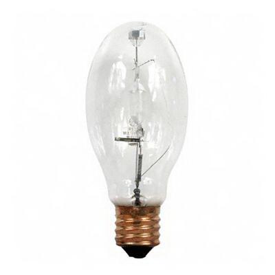 GE Lamps MVR150/U/WM Multi-Vapor® Watt-Miser® Elliptical ED28 Quartz Metal Halide Lamp; 150 Watt, 4000K, 65 CRI, Mogul Screw (E39) Base, 10000 Hour Vertical, 7500 Hour Horizontal Life, Clear