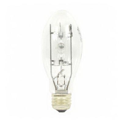 GE Lamps MVR100/U/MED Multi-Vapor® PulseArc® Elliptical BD17 Quartz Metal Halide Lamp; 100 Watt, 100 Volt, 4000K, 70 CRI, Medium Screw (E26) Base, 15000 Hour Life, Clear