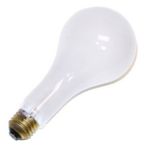 GE Lamps 150PS25/RS/STG-130 Saf-T-Gard® A-Line PS25 Incandescent Lamp; 150 Watt, 130/120 Volt, Medium Screw (E26) Base, 1000/2600 Hour Life, Inside Frosted