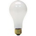 GE Lamps 100A/RS/130-130 A-Line A19 Incandescent Lamp; 100 Watt, 130/120 Volt, Medium Screw (E26) Base, 2000/5400 Hour Life, Inside Frosted