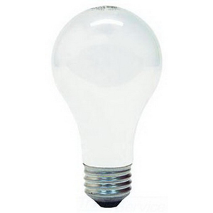 GE Lamps 60A/S/130-/12-130 A-Line A19 Incandescent Lamp; 60 Watt, 130/120 Volt, Medium Screw (E26) Base, 2000/5200 Hour Life, Inside Frosted