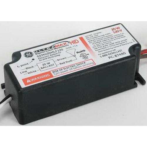GE Lamps GEMH20-MLF-120 UltraMax™ Electronic Low Frequency HID Ballast; 120 Volt, 22.5 Watt, 1-Lamp, Pulse Start