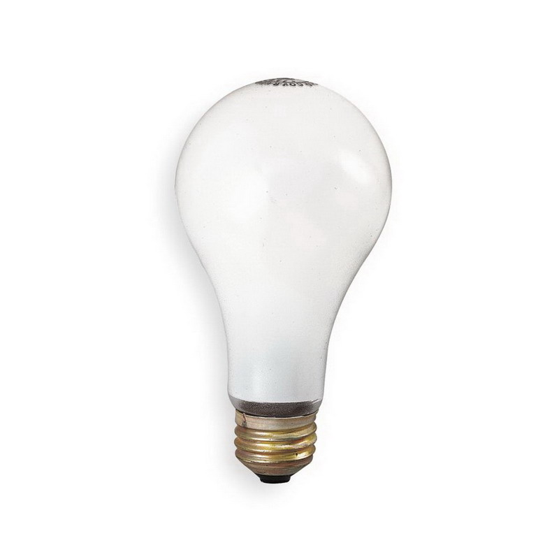 GE Lamps 75A/RS/130-130 A-Line A19 Incandescent Lamp; 75 Watt, 130/120 Volt, Medium Screw (E26) Base, 2000/5400 Hour Life, Inside Frosted