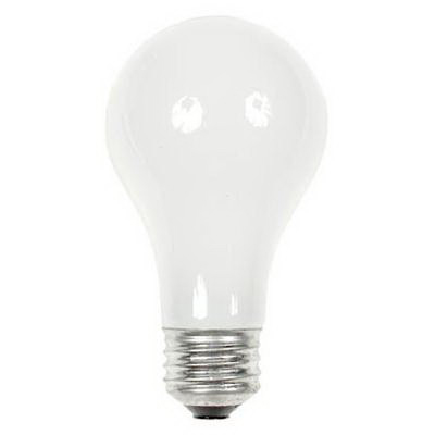 GE Lamps 38A-2/-120 A-Line A19 Incandescent Lamp; 38 Watt, 120 Volt, 2700K, Medium Screw (E26) Base, 1000 Hour Life, Inside Frosted