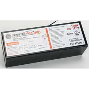 GE Lamps GEMH150-SLJ-MV UltraMax™ Electronic Low Frequency HID Ballast; 120 - 277 Volt, 167/164 Watt, 1-Lamp, Pulse Start