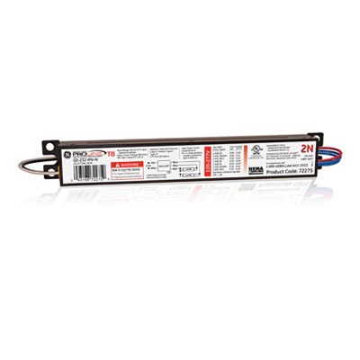 GE Lamps GE-232-MV-N UltraMax® Electronic Linear Fluorescent Ballast; 120 - 277 Volt, 55 Watt At 120 Volt, 54 Watt At 277 Volt Input, 2-Lamp, Instant Start