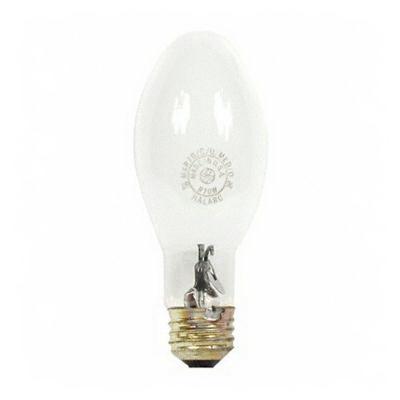 GE Lamps MXR100/C/U/MED/O Multi-Vapor® Protected PulseArc® Elliptical ED17 Quartz Metal Halide Lamp; 100 Watt, 3200K, 70 CRI, Medium Screw (E26) Base, 15000 Hour Life, Coated