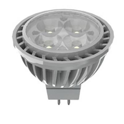 GE Lamps LED7DMR16D827/35-12 Energy Smart® Directional MR16 Replacement LED Reflector Lamp; 7 Watt, 12 Volt, 2700K, Bi-Pin (GU5.3) Base, 25000 Hour Life, Silver