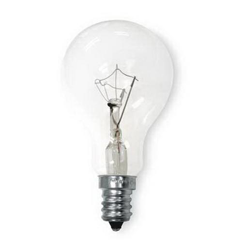 GE Lamps 60A15CA/C/CF-CD2-120 A-Line A15 Incandescent Lamp; 60 Watt, 120 Volt, 2700K, Candelabra Screw (E12) Base, 1500 Hour Life, Clear