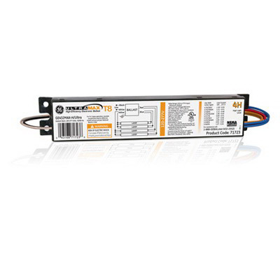 GE Lamps GE432MAX-H-42T UltraMax® Electronic Linear Fluorescent Ballast; 120 - 277 Volt, 148 Watt At 120 Volt, 145 Watt At 277 Volt, 4-Lamp, Instant Start