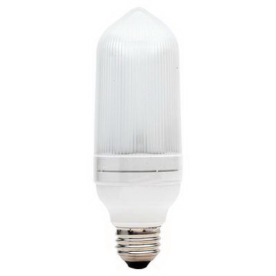 GE Lamps FLE26/2/T21XL Self-Ballasted Bullet T21 Compact Fluorescent Lamp; 26 Watt, 120 Volt, 2700K, Medium Screw (E26) Base, 10000 Hour Life, Soft White