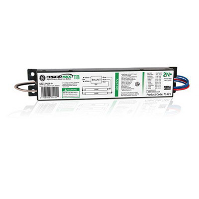 GE Lamps GE232MAX-N+ UltraMax® Electronic Linear Fluorescent Ballast; 120 - 277 Volt, 63 Watt At 120 Volt, 62 Watt At 277 Volt, 2-Lamp, Instant Start