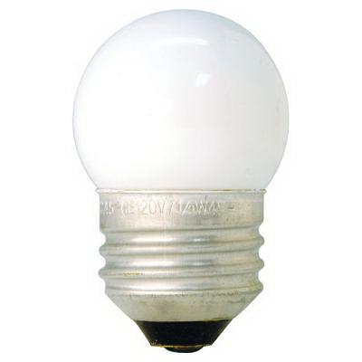 GE Lamps 71/2S/CW/CD-120 S11 Incandescent Lamp; 8 Watt, 120 Volt, Medium Screw (E26) Base, 1400 Hour Life, Inside Frosted White