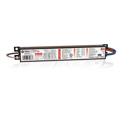 GE Lamps GE432MV-N ProLine® Electronic Linear Fluorescent Ballast; 120 - 277 Volt, 113 Watt At 120 Volt, 110 Watt At 277 Volt, 4-Lamp, Instant Start