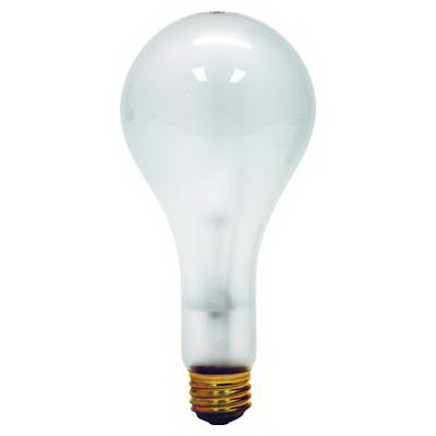 GE Lamps 300M/130V-130 A-Line PS25 Incandescent Lamp; 300 Watt, 120 Volt, Medium Screw (E26) Base, 750/1950 Hour Life, Clear