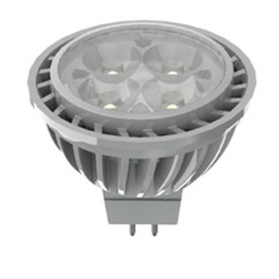 GE Lamps LED7DMR16D830/35-12 Energy Smart® Directional MR16 Replacement LED Reflector Lamp; 7 Watt, 12 Volt, 3000K, Bi-Pin (GU5.3) Base, 25000 Hour Life, Silver