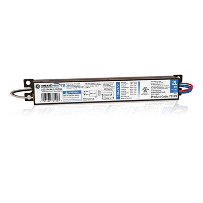 GE Lamps GE259MAX-L/ULTRA UltraMax® Electronic Linear Fluorescent Ballast; 120 - 277 Volt, 2-Lamp, Instant Start