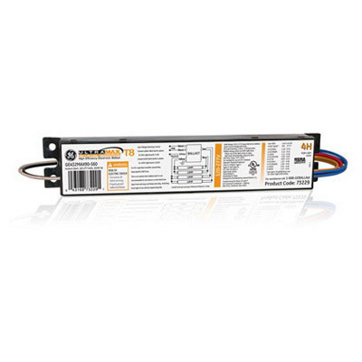 GE Lamps GE432MAX90-S60 73229 UltraMax® Electronic Linear Fluorescent Ballast; 120 - 277 Volt, 4-Lamp, Instant Start