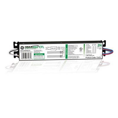 GE Lamps GEC240MAX-A UltraMax™ High Lumen Biax™ Electronic Compact Fluorescent Ballast; 120 - 277 Volt, 2-Lamp, Instant Start