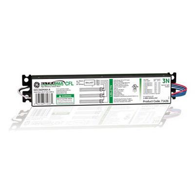 GE Lamps GEC340MAX-A UltraMax™ High Lumen Biax™ Electronic Compact Fluorescent Ballast; 120 - 277 Volt, 3-Lamp, Instant Start