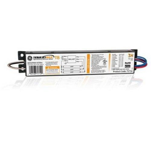 GE Lamps GE332MAX-H/ULTRA UltraMax® Electronic Fluorescent Ballast; 120 - 277 Volt