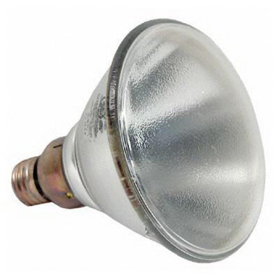 GE Lamps 150PAR/SP/STG-120 Quartzline® Sealed Beam PAR38 Halogen Lamp; 150 Watt, 120 Volt, Medium Skirt (E26/50x39) Base, 2000 Hour Life