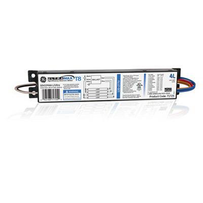 "GE Lamps GE432MAX-L/ULTRA UltraMax Electronic Linear Fluorescent Ballast 120 - 277 Volt, 97 Watt At 120 Volt, 96 Watt At 277 Volt, 4-Lamp, Instant Start,"""