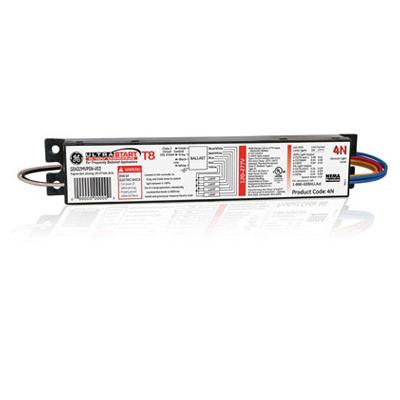 GE Lamps GE232MVPS-N-V03 75380 UltraStart® Electronic Linear Fluorescent Ballast; 120 - 277 Volt, 2-Lamp, Programmed Rapid Start