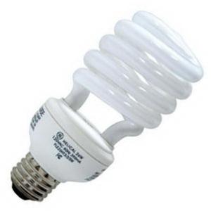 GE Lamps FLE26HT3/2GU24CD Self-Ballasted Spiral T3 Compact Fluorescent Lamp; 26 Watt, 120 Volt, 2700K, Bi-Pin (GU24) Base, 10000 Hour Life