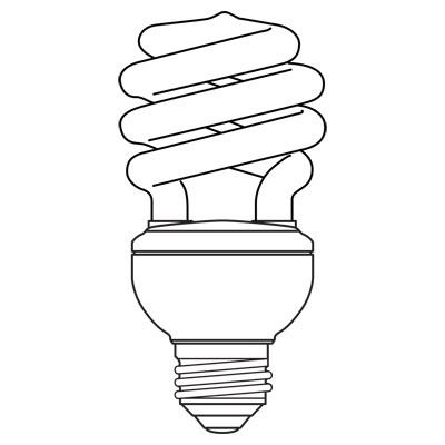 GE Lamps FLE55HT5/2/SW/BX Soft White Energy Smart® Self-Ballasted Spiral T5 Compact Fluorescent Lamp; 55 Watt, 120 Volt, 2700K, Medium Screw (E26) Base, 8000 Hour Life, Soft White
