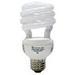 GE Lamps FLE20HT3/2/SW/CD Soft White Spiral® Self-Ballasted Spiral T3 Compact Fluorescent Lamp; 20 Watt, 120 Volt, 2700K, 82 CRI, Medium Screw (E26) Base, 8000 Hour Life, Soft White