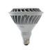 GE Lamps LED20DP38V/FL/TP Directional PAR38 Replacement LED Bulb; 20 Watt, 120 Volt, 2700K, Medium Screw (E26) Base, 23/25000 Hour Life, Silver