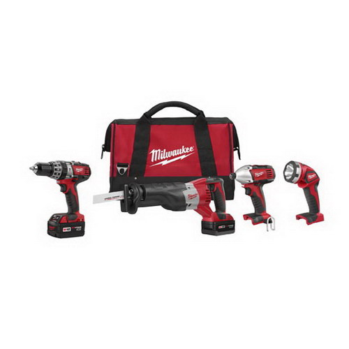Milwaukee Tool  2696-24 M18™ 4 Piece Cordless Tool Combo Kit