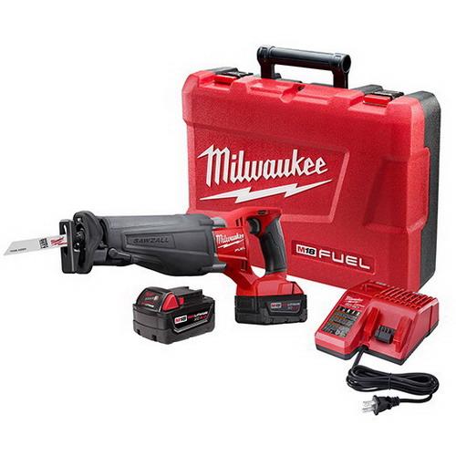 Milwaukee Tool  2720-22 M18 Fuel™ Sawzall® Keyless Blade Clamp Reciprocating Saw Kit; 18 Volt