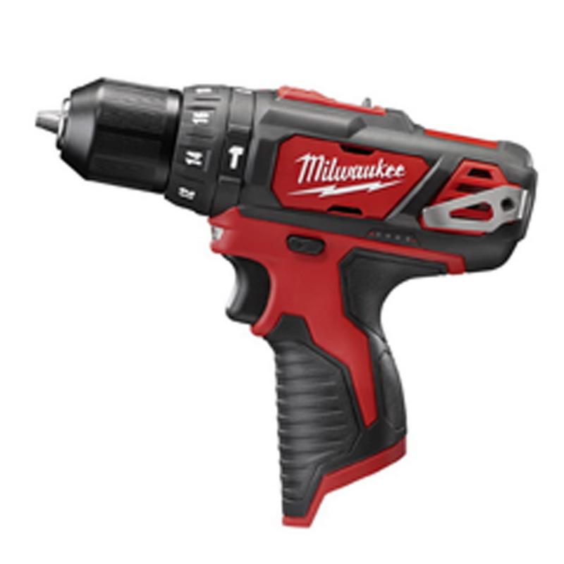 Milwaukee Tool  2408-20 M12™ Hammer Drill/Driver; 12 Volt, 7.5 Inch Length X 3/8 Inch Chuck, 275 Inch-Lb Torque