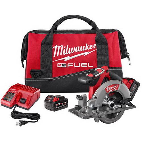 Milwaukee Tool  2730-22 Circular Saw Kit 18 Volt- 5/8 Inch Arbor X M18 Redlithium Xc4.0-