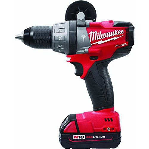 Milwaukee Tool  2604-22 M18 Fuel™ Hammer Drill/Driver Kit; 18 Volt, 8.1 Inch Length X 1/2 Inch Chuck, 725 Inch-Lb Torque, M18&Trade; Redlithium&Trade; Xc4.0 Battery