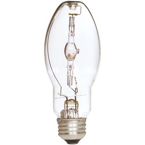Satco S4858 ED17 Metal Halide Lamp 100 Watt  4000K  65 CRI  Medium Screw E26 Base  15000 Hour Life  Clear