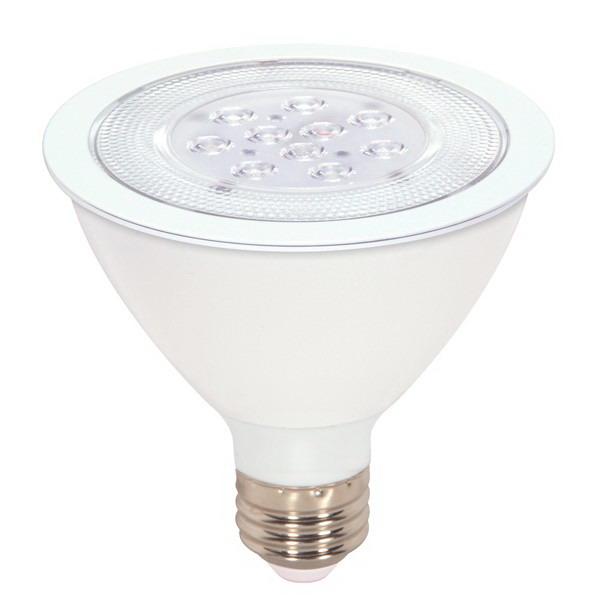 Satco S9087 PAR30 LED Reflector Lamp 11 Watt  120 Volt  4000K  80 CRI  Medium Screw E26 Base  25000 Hour Life