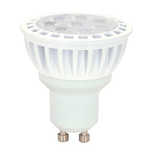 Satco S9096 Reflector MR16 LED Lamp 7 Watt  120 Volt  3000K  80 CRI  Bi-Pin GU10 Base  25000 Hour Life
