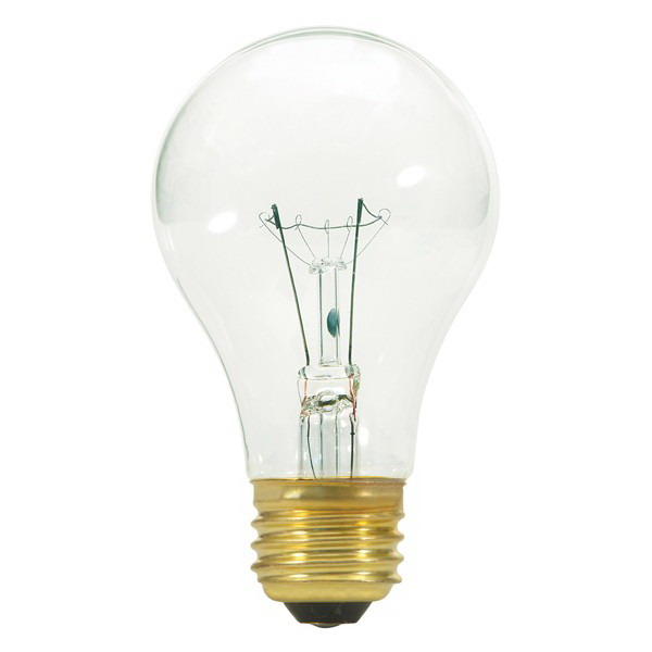 Satco S3941 A Line A19 Incandescent Lamp 40 Watt 130 Volt Medium Screw E26 Base 2500 Hour