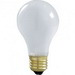 Satco S6010 A-Line A19 Incandescent Lamp; 100 Watt, 130 Volt, Medium Screw (E26) Base, 2000 Hour Life, Frosted
