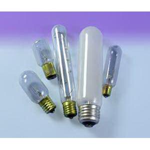 Sylvania 15T6145V T6 Incandescent Lamp; 15 Watt, 145 Volt, 2850K, 100 CRI, Candelabra Screw (E12) Base, 2000 Hour Life, Clear
