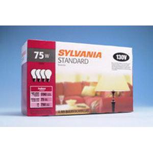 Sylvania 75A-130V A-Line A19 Incandescent Lamp; 75 Watt, 130 Volt, 2850K, 100 CRI, Medium Screw (E26) Base, 750 Hour Life
