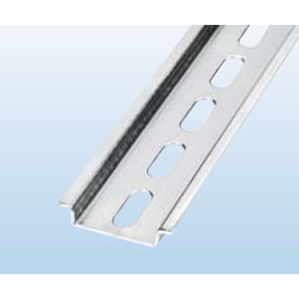 Bussmann DRL35MMLO DIN Rail; 35 mm Width x 15 mm Height x 1 m Length, Steel, Galvanic Zinc Plating