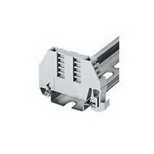 Bussmann BRKT-ND End Bracket; Steel Clamp, Gray, 52.5 mm Width x 36.30 mm Height, For Use With DRL35MMHI, DRL35MMLO